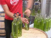 bottles of Sub Rosa Tarragon vodka, roll off the line